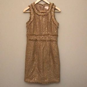 Micheal Kors beautiful gold dress size 4